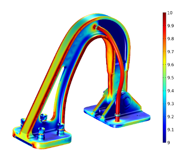 Multiphysics analysis of an arch structure.