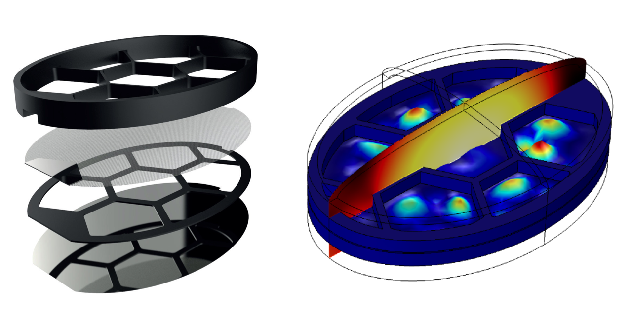 Optimizing a headphone and speaker design with multiphysics modeling.
