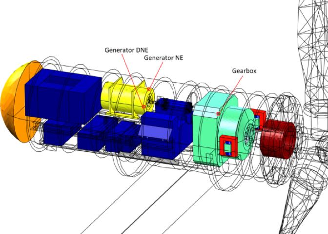 A tidal turbine model.