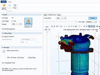 用于设计 3D 打印喷油器的仿真 App 的裁剪视图。