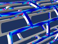 支架模型的特写视图。