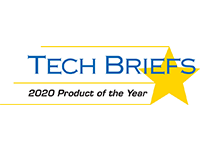 The Tech Briefs 2020 Product of the Year logo.