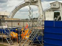 水轮机原型的试验场设置。