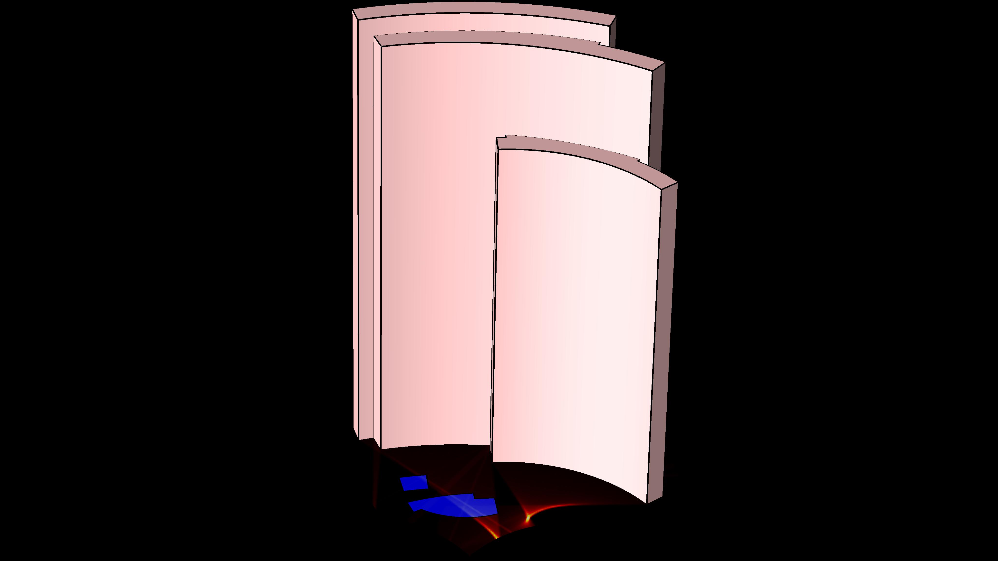 仿真結果顯示通過射線追踪執行的焦散面分析。