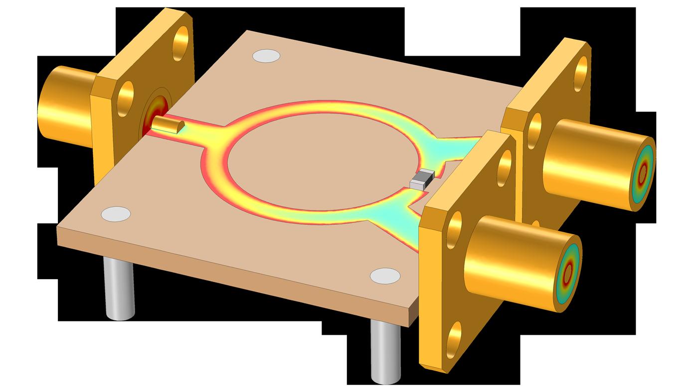 威爾金森功率分配器COMSOL 模型。