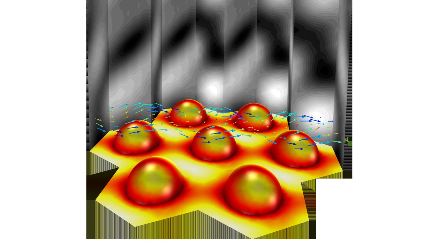 在COMSOL Multiphysics 中完成的散射建模示例。
