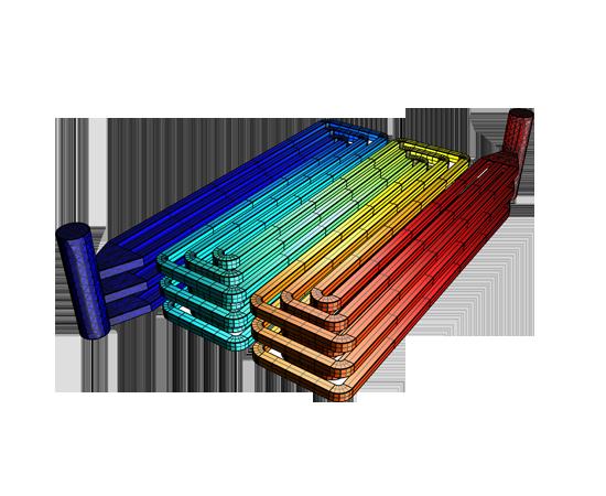 燃料電池堆中的流體流動和壓降。