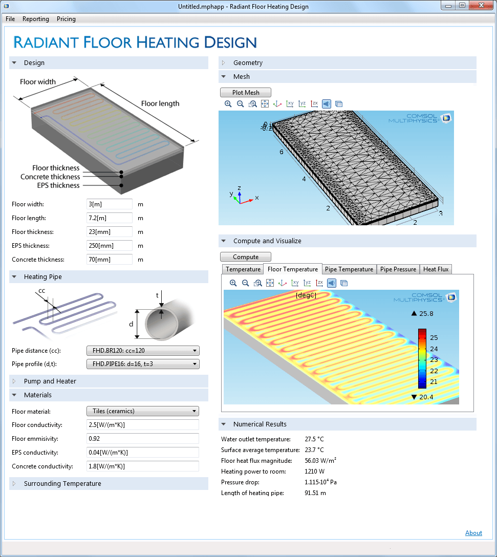 Pipe Flow Software Generating And Analyzing Pipe Flow