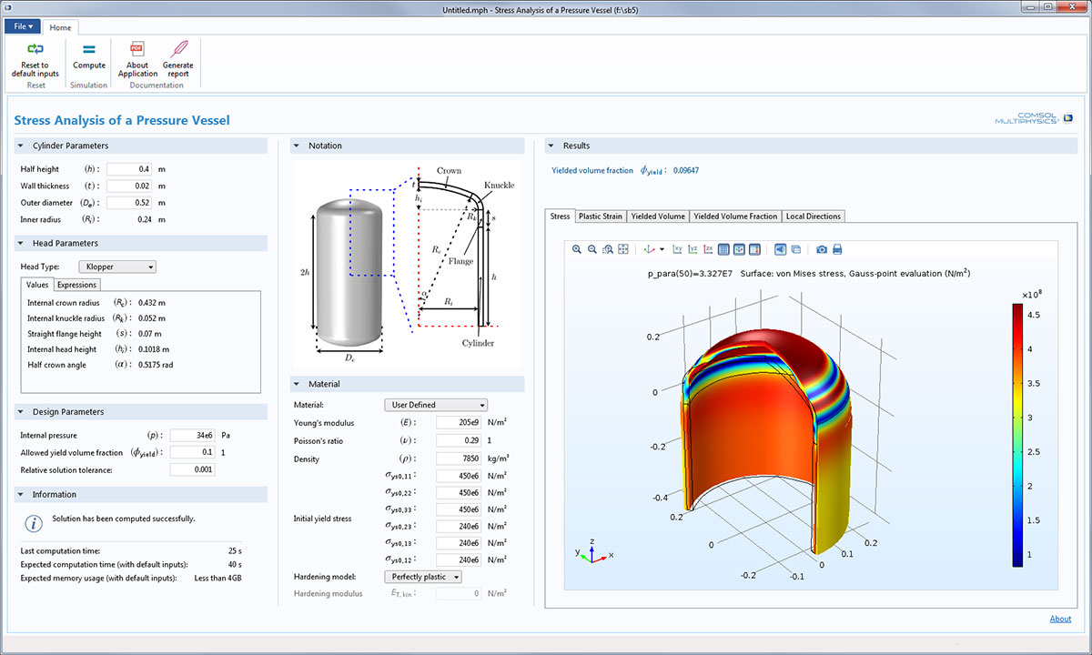 Nonlinear Structural Mechanics Comsol 5 2 Release Highlights