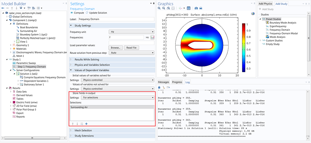 Studies and Solvers - COMSOL 5 2 Release Highlights