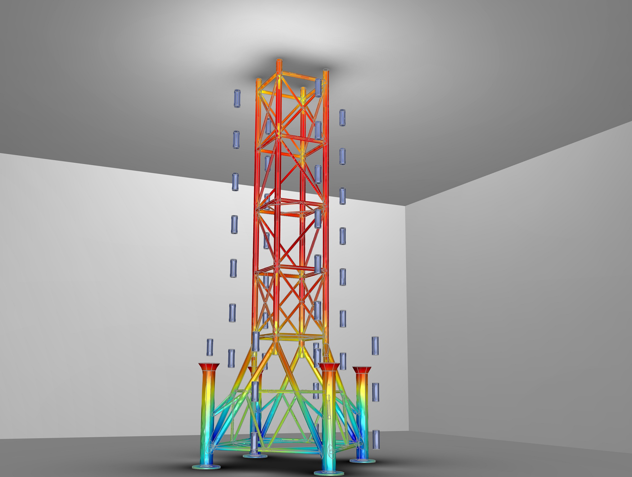 Model of an Oil Rig in COMSOL Multiphysics
