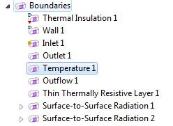 COMSOL Multiphysics icons change based on condition overrides
