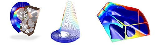 Three examples of multiphysics