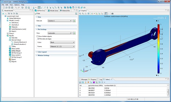 Designing a wrench in COMSOL Multiphysics