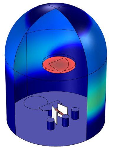 Evaporator modeled in COMSOL Multiphysics