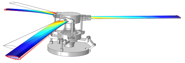 Helicopter swashplate created with COMSOL Multiphysics 4.3b