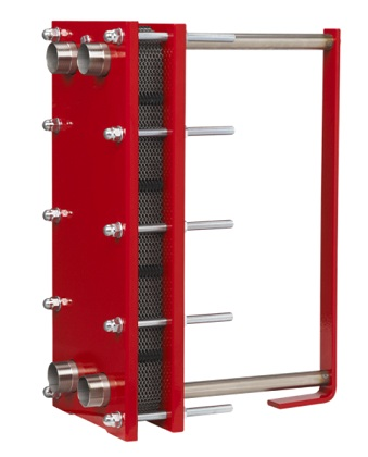 Interchangeable plate heat exchanger