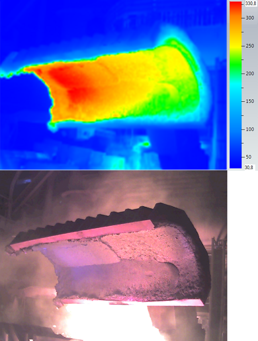 Roof runner, thermograms and photograph