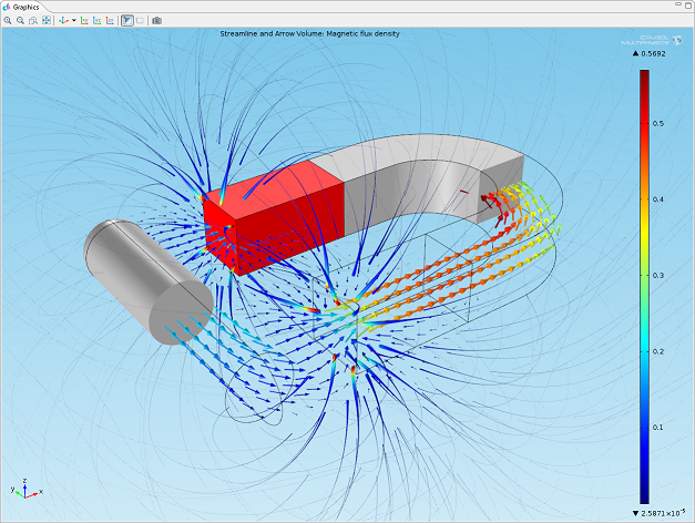 Visualization of a permanent magnet's magnetic field