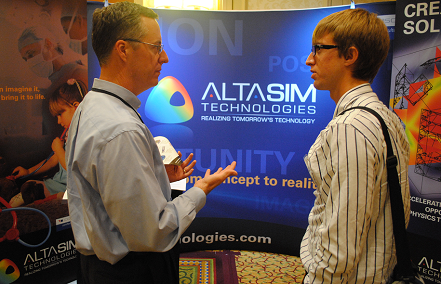 AltaSim exhibited at the 2012 multiphysics event