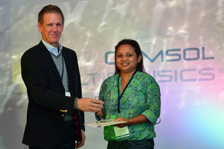 Best Paper award winner in the General category Fahmida Naznin from TVS Motors, Tamil Nadu