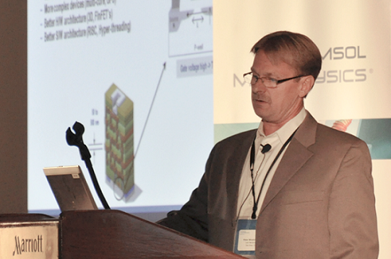 Peter Woytowitz, Lam Research Corporation, Keynote Speaker at the COMSOL Conference 2013 Boston