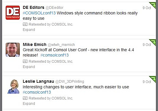 Tweets about the new user interface, ribbon