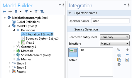 Integration Coupling Operator