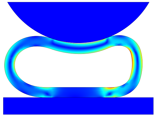 Compression of air enclosed in a soft rubber seal
