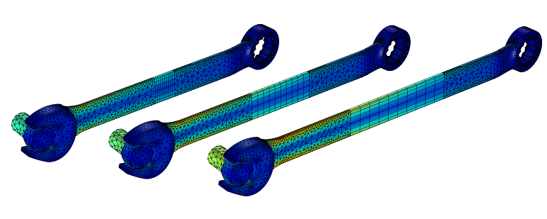 a model of the results of a Parametric Sweep of a wrench
