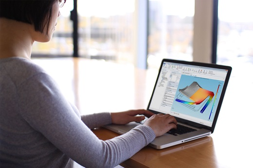 COMSOL multiphysics software in use