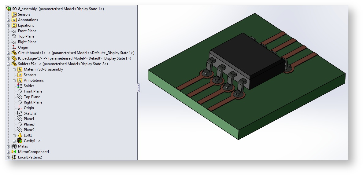 CAD model of a Small Outline Integrated Circuit