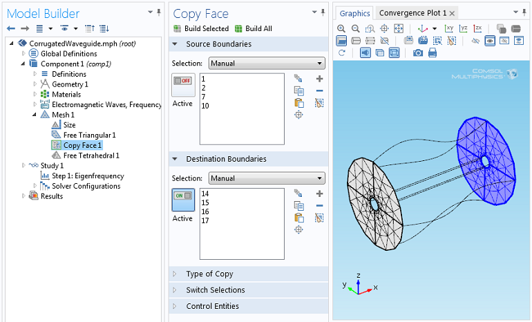 Screenshot of the Copy Face feature
