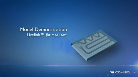 Video still of a model demonstration while using LiveLink for MATLAB