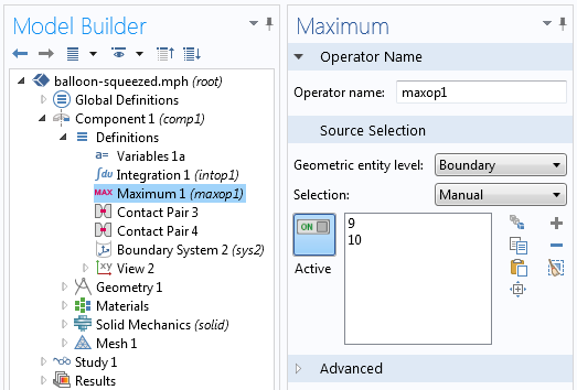 Screenshot of the Maximum Coupling Operator