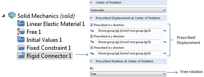 Rigid Connector feature