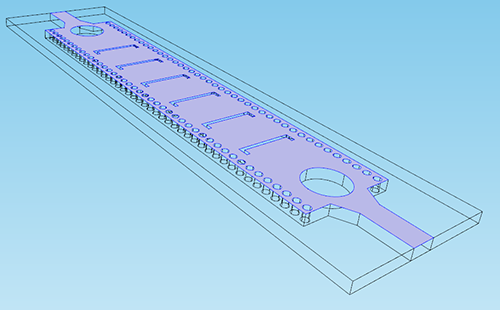 Screenshot of the boundary of the copper microstrip selected
