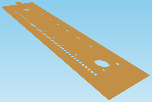 Geometry of the copper microstrip with added color