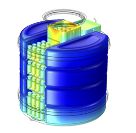 COMSOL Multiphysics model of the Passive Vaccine Storage Device