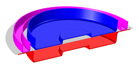 Forming tools used in the transverse isotropy process