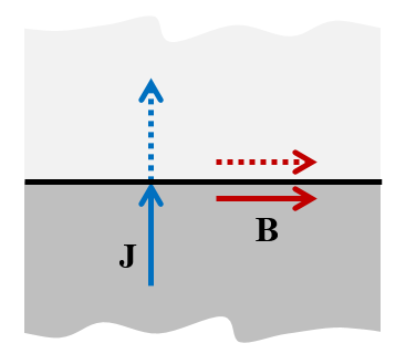 Diagram explaining the Magnetic Insulation boundary condition.
