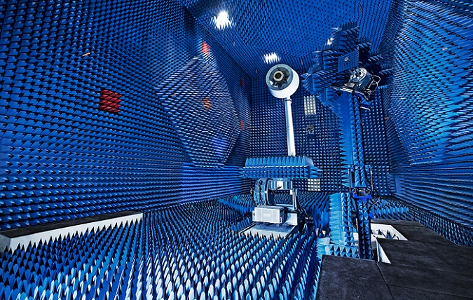 Testing an antenna in an RF anechoic chamber