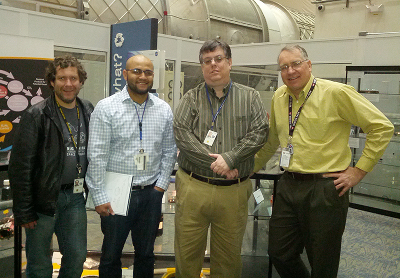 Photo of the NASA research team.