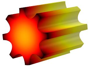 散热器和电子封装的几何结构。