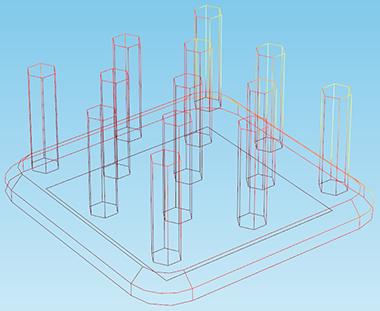 图片显示了温度沿柱子的变化。