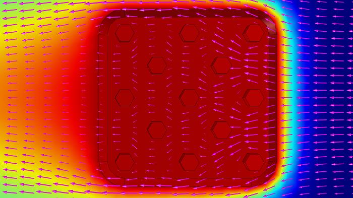 散热器的 XY 视角。