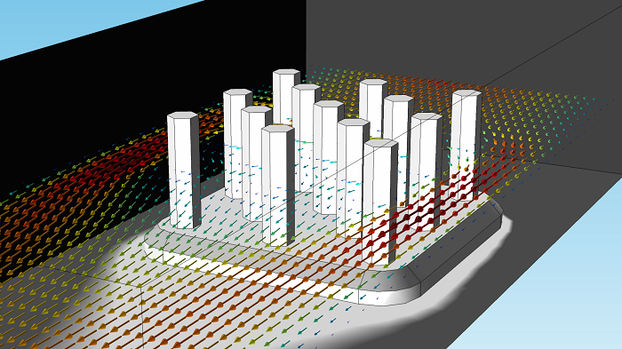 图片显示了颜色表改变后的散热器。