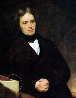 Michael Faraday oil painting