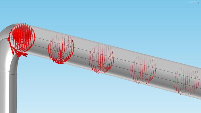 分量设为 0 后模型中的箭头图。
