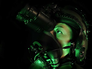 RAF Pillot with Night Vision Equipment